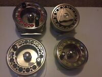 Set of 2 scierra fly reels with spare spools and lines