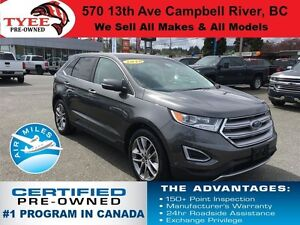 2016 Ford Edge Titanium AWD Leather Seats Sunroof Navigation
