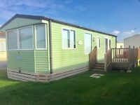 Luxury static caravan for sale in Morecambe with deck nr lakes 12 month sea view facilities no haven