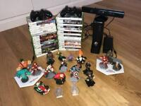 XBox 360 with Kinect,2 Controllers, Over 20 x Games, Disney & Marvel Infinity with 20plus Characters