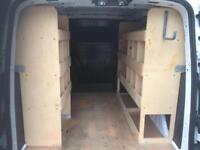 Ford transit connect plywood racking shelving ply new shape 2013 on