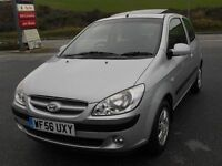HYUNDAI GETZ 1.5 CRTD CDX, 2006 '56 REG, £30 A YEAR TAX! TURBO DIESEL, 118k, FSH, LONG MOT, SUPERB