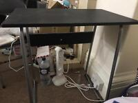 Used study desk with two fold chairs