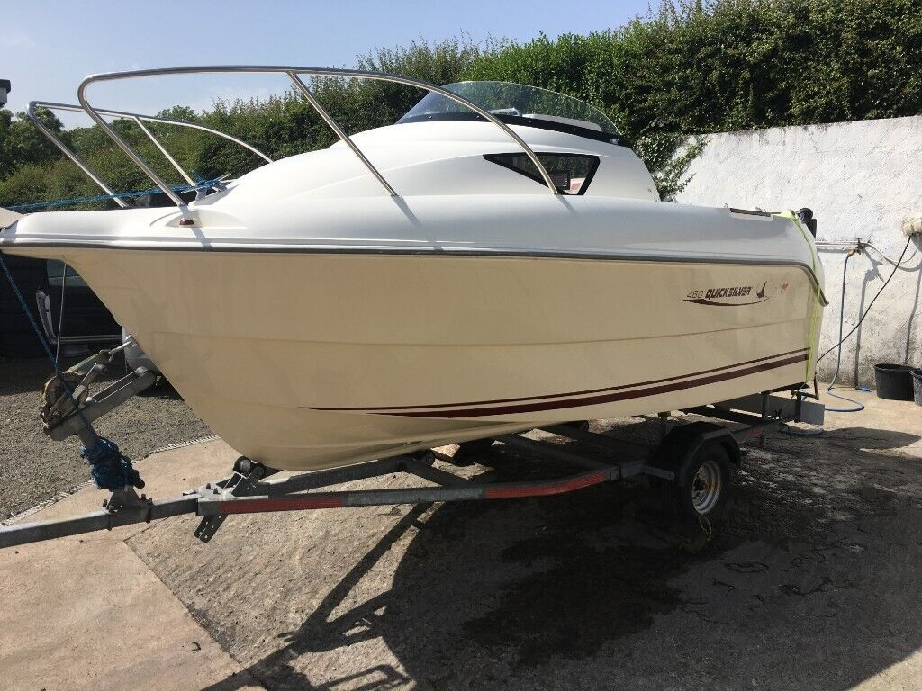 For sale boat Quicksilver 460 ,,with 50hp engine price£ 7999 ono may teak  px/exch   in Aughnacloy, County Tyrone   Gumtree