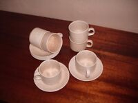 Cups and Saucers. Set of six Churchill of England crockery