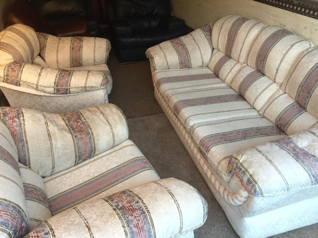 3 Seater Sofa And 2 Armchairs In Galashiels Scottish