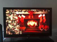 50 inch Samsung TV, DVD Player and Speakers