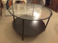 Round glass modern coffee table, FREE delivery in the local area