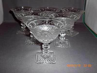 """6 IMPERIAL GLASS TRADITION #165 STEM PATTERN LIQUOR COCKTAIL GLASSES 3.5"""" TALL"""