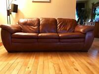 100% Real Leather 3 + 2x 1 Seaters