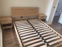 King Size Oak Bed Frame (only 2 weeks old!)