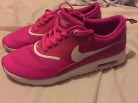 Pink Nike Thea Trainers - Size 5