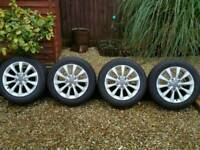 "Genuine Audi A6 17"" 4 alloy+ Winter tyres Nearly New 225/55/17"