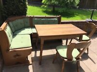 Kitchen/Dining table corner bench& chairs