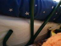 Green single bed