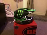 Kids monster motorcross helmet bran new in box never warn £85