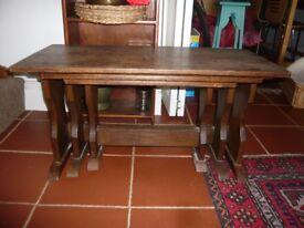 Nest of 3 Oak Tables