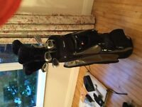 Complete set of ladies golf clubs, with bag, trolley, etc