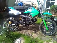 125 pit bike really good condition only used by me less than 50 miles done on it from new