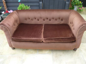 Two seater chesterfield sofa