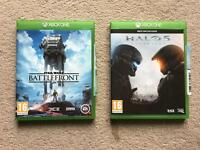 Xbox One Star Wars Battlefront and Halo 5