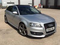 AUDI S3 TFSI BLACK EDITION SPORTBACK PANORAMIC ROOF TWO KEYS 2 OWNER FROM NEW