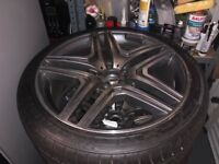 """21"""" Mercedes wheels with tyres"""