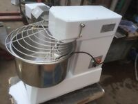 PIZZA EQUIPMENT SPIRAL DOUGH MIXER 50L FOR PIZZA AND BAKERY TAKES 20KG FLOUR DUAL CHAIN 50 LITRE