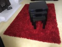Various furniture pieces all excellent condition,rug/nest of tables/bedside units/tv stand