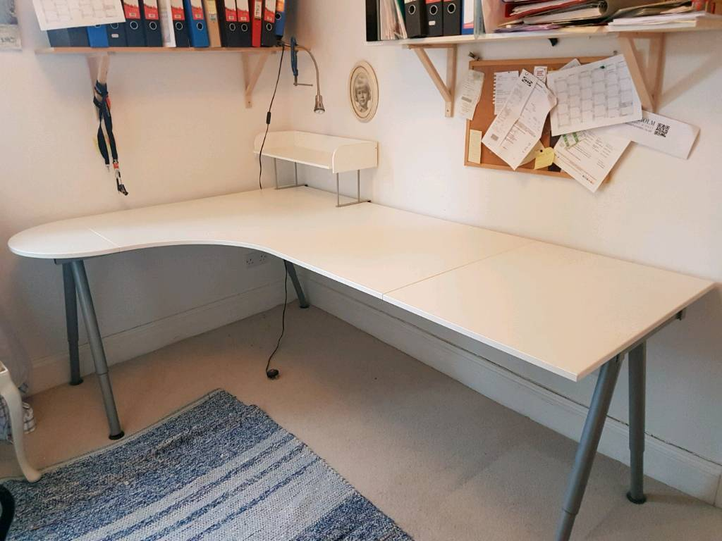 Ikea Large Curved Office Desk And Chair