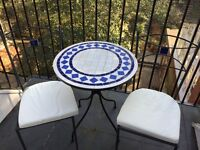 Outdoor Mosaic Table and Chairs