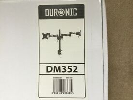 REDUCED! - Duronic DM352 Double Arm Monitor / TV Desk Mount **BRAND NEW**