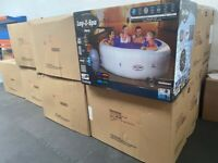 Lay-z spa Paris inflatable hot tub 6 seater led lights brand new in box