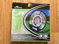 Golf chipping net, distance finder, tool, DVD & badge