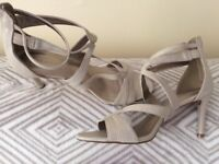 Beige Strappy Sandals with Insolia Size 5.5