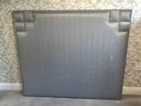 Brand new silver/grey double bed headboard