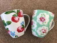 2 large original Cath Kidston mugs