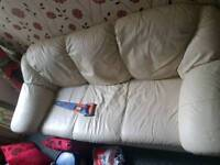 URGENT ATTENRION LEATHER SOFA 3PIECE AND A SINGLE