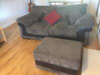 DFS 1x Sofa and 1x Sofabed with footstool
