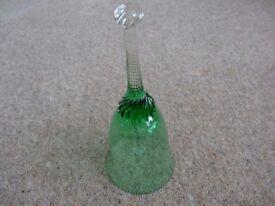 JAFFE ROSE - ART GLASS BELL - VINTAGE
