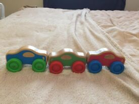 Melissa and Doug coloured Stacking Cars.