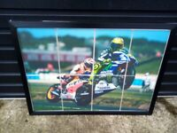 Large Matt Black Framed Picture of Valentino Rossi (The Doctor) Movist