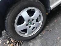 "15"" skoda Alloys all good tyres"