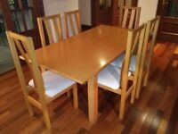 Dining table and 6 chairs - Canadian Maple