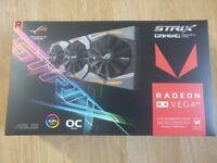 ASUS RADEON RX VEGA 64 ROG STRIX OC 8GB HBM2 PCI-EXPRESS GRAPHICS CARD - MINT IN BOX