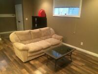 Two bedrooms in a basement suite for rent