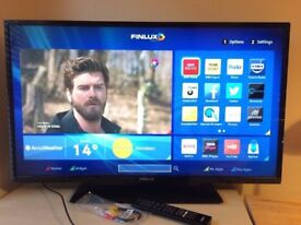 """Finlux 39"""" Smart WiFi led tv Freeview Hdmi Youtube Netflix Complete with box"""