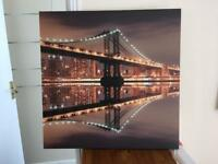 Canvas Print with lights