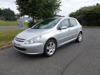 PEUGEOT 307 XSI HDI DIESEL 5 DOOR TOP OF THE RANGE SILVER 2004 BARGAIN ONLY 950 *LOOK* PX/DELIVERY