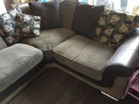 Large black/grey corner sofa